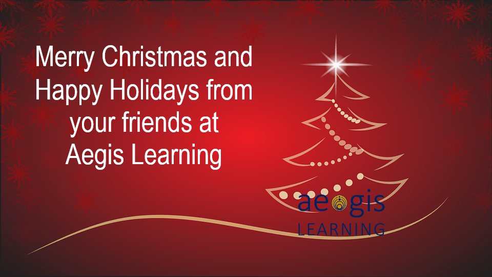 Merry Christmas and Happy Holidays from Aegis Learning